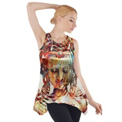 Dakini Goddess Copper Metallic Side Drop Tank Tunic