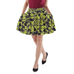Modern Abstract Interlace A-Line Pocket Skirt