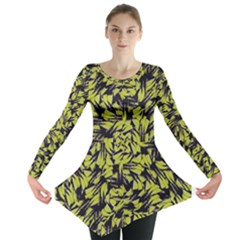 Modern Abstract Interlace Long Sleeve Tunic