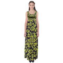 Modern Abstract Interlace Empire Waist Maxi Dress