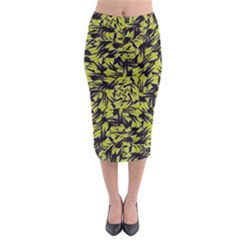 Modern Abstract Interlace Midi Pencil Skirt
