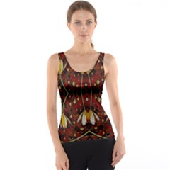 Fantasy Flowers And Leather In A World Of Harmony Tank Top