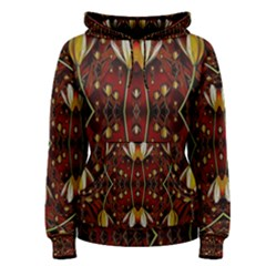 Fantasy Flowers And Leather In A World Of Harmony Women s Pullover Hoodie