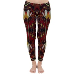 Fantasy Flowers And Leather In A World Of Harmony Winter Leggings