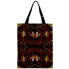 Fantasy Flowers And Leather In A World Of Harmony Zipper Classic Tote Bag