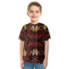 Fantasy Flowers And Leather In A World Of Harmony Kid s Sport Mesh Tee