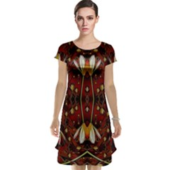 Fantasy Flowers And Leather In A World Of Harmony Cap Sleeve Nightdress