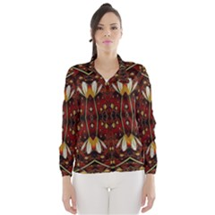 Fantasy Flowers And Leather In A World Of Harmony Wind Breaker (women)