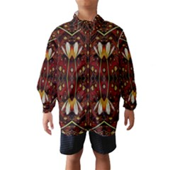 Fantasy Flowers And Leather In A World Of Harmony Wind Breaker (Kids)