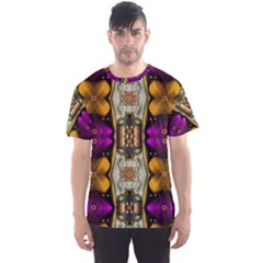 Contemplative Floral And Pearls  Men s Sport Mesh Tee