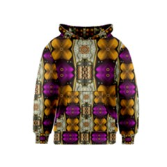 Contemplative Floral And Pearls  Kids  Pullover Hoodie