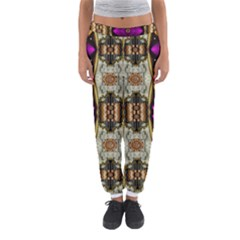 Contemplative Floral And Pearls  Women s Jogger Sweatpants
