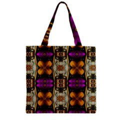 Contemplative Floral And Pearls  Zipper Grocery Tote Bag