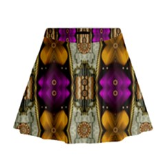 Contemplative Floral And Pearls  Mini Flare Skirt