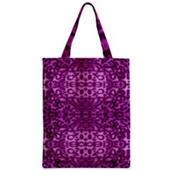 Lion In Purple Zipper Classic Tote Bag