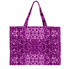 Lion In Purple Large Tote Bag
