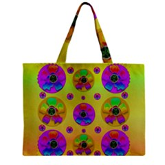 Floral Love And Why Not In Neon Zipper Mini Tote Bag