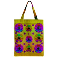Floral Love And Why Not In Neon Zipper Classic Tote Bag