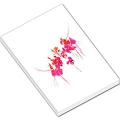 Minimal Floral Print Large Memo Pads