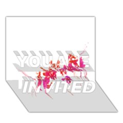 Minimal Floral Print YOU ARE INVITED 3D Greeting Card (7x5)