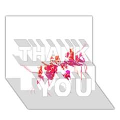 Minimal Floral Print THANK YOU 3D Greeting Card (7x5)