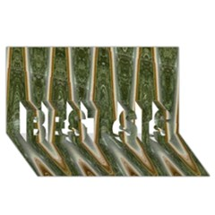 Green Brown Zigzag BEST SIS 3D Greeting Card (8x4)