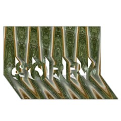 Green Brown Zigzag Sorry 3d Greeting Card (8x4)