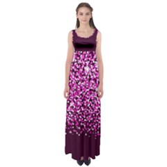Pink Glitter Rain Empire Waist Maxi Dress
