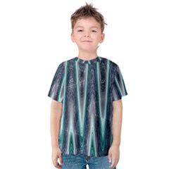 Blue Turquoise Zigzag Pattern Kid s Cotton Tee
