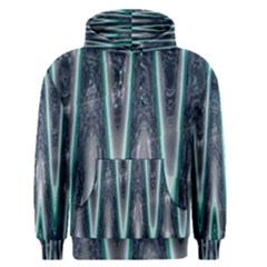 Blue Turquoise Zigzag Pattern Men s Pullover Hoodie