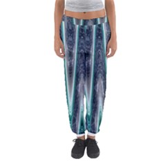 Blue Turquoise Zigzag Pattern Women s Jogger Sweatpants