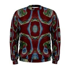 Fancy Maroon Blue Design Men s Sweatshirt