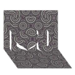 Geometric Boho Print I Love You 3D Greeting Card (7x5)