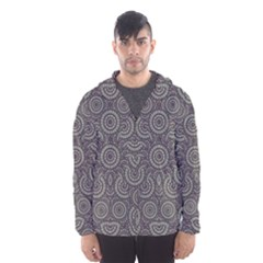 Geometric Boho Print Hooded Wind Breaker (Men)
