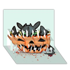 Halloween Dragon You Are Invited 3d Greeting Card (7x5)