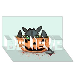 Halloween Dragon Believe 3d Greeting Card (8x4)