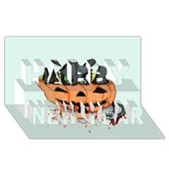 Halloween Dragon Happy New Year 3D Greeting Card (8x4)