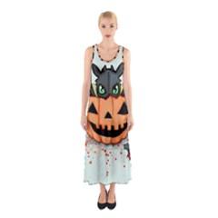 Halloween Dragon Sleeveless Maxi Dress