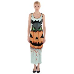 Halloween Dragon Fitted Maxi Dress