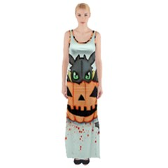 Halloween Dragon Maxi Thigh Split Dress
