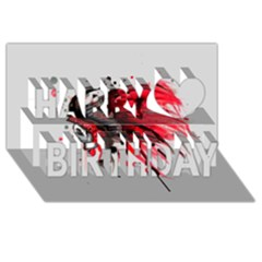 Savages Happy Birthday 3D Greeting Card (8x4)