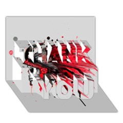 Savages THANK YOU 3D Greeting Card (7x5)