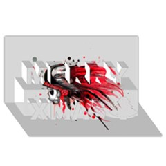 Savages Merry Xmas 3D Greeting Card (8x4)