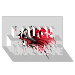 Savages Laugh Live Love 3D Greeting Card (8x4)