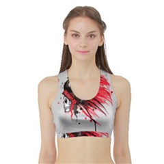 Savages Women s Sports Bra with Border
