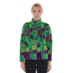 Bright Green Mod Pop Art Winterwear