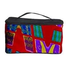 Bright Red Mod Pop Art Cosmetic Storage Cases