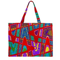 Bright Red Mod Pop Art Large Tote Bag