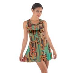 Brown green texture                              Cotton Racerback Dress