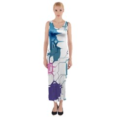 Cracked wall                                 Fitted Maxi Dress